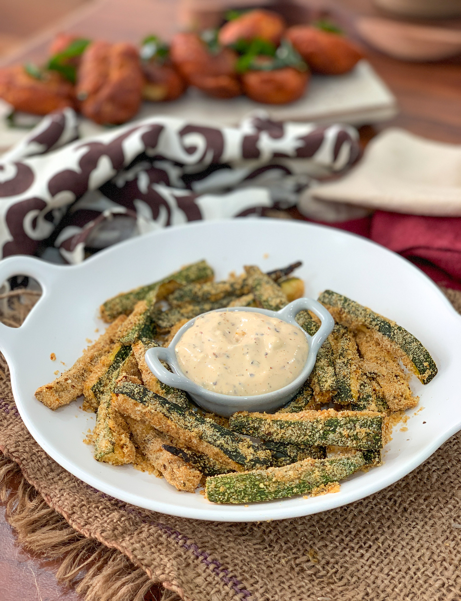 Oven Baked Lemon & Herb Zucchini Fries Recipe