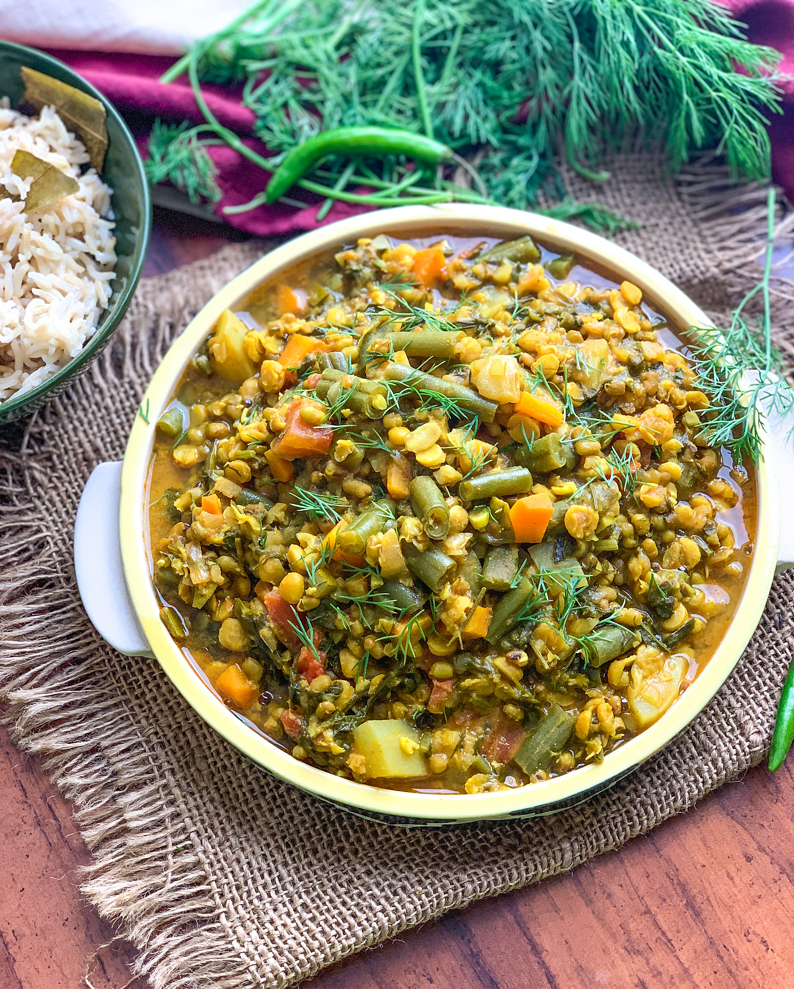 Sindhi Sai Bhaji Recipe - Wholesome Sindhi Dal With Vegetables