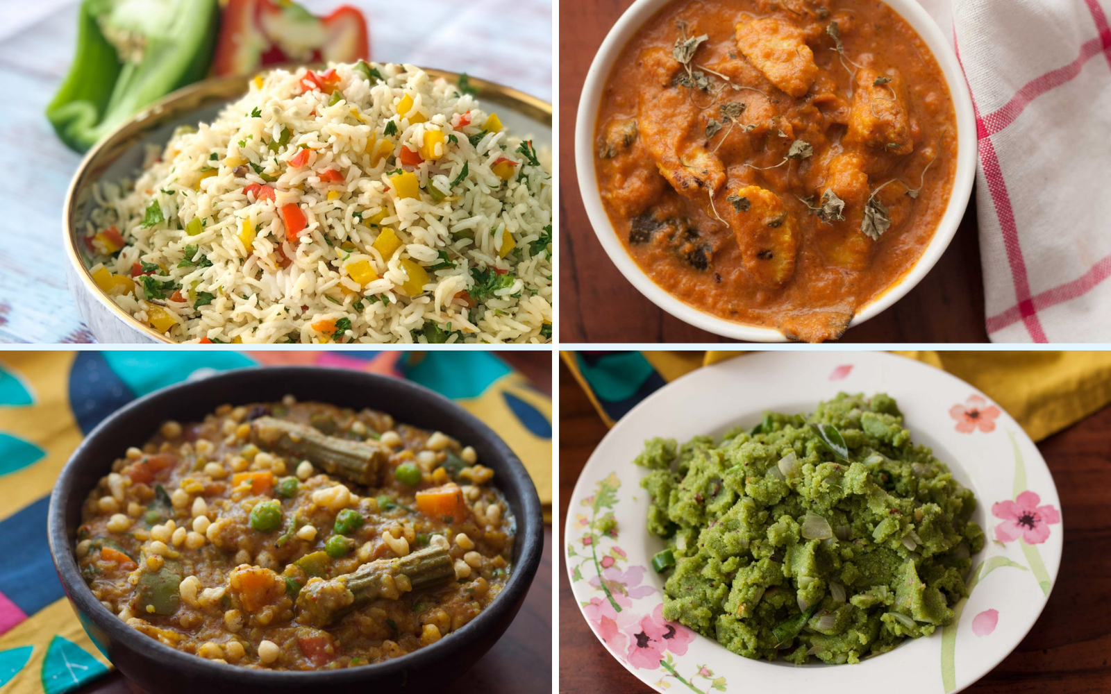 Weekly Meal Plan – Bisi Bele Bath, Baby Corn Butter Masala And Much More