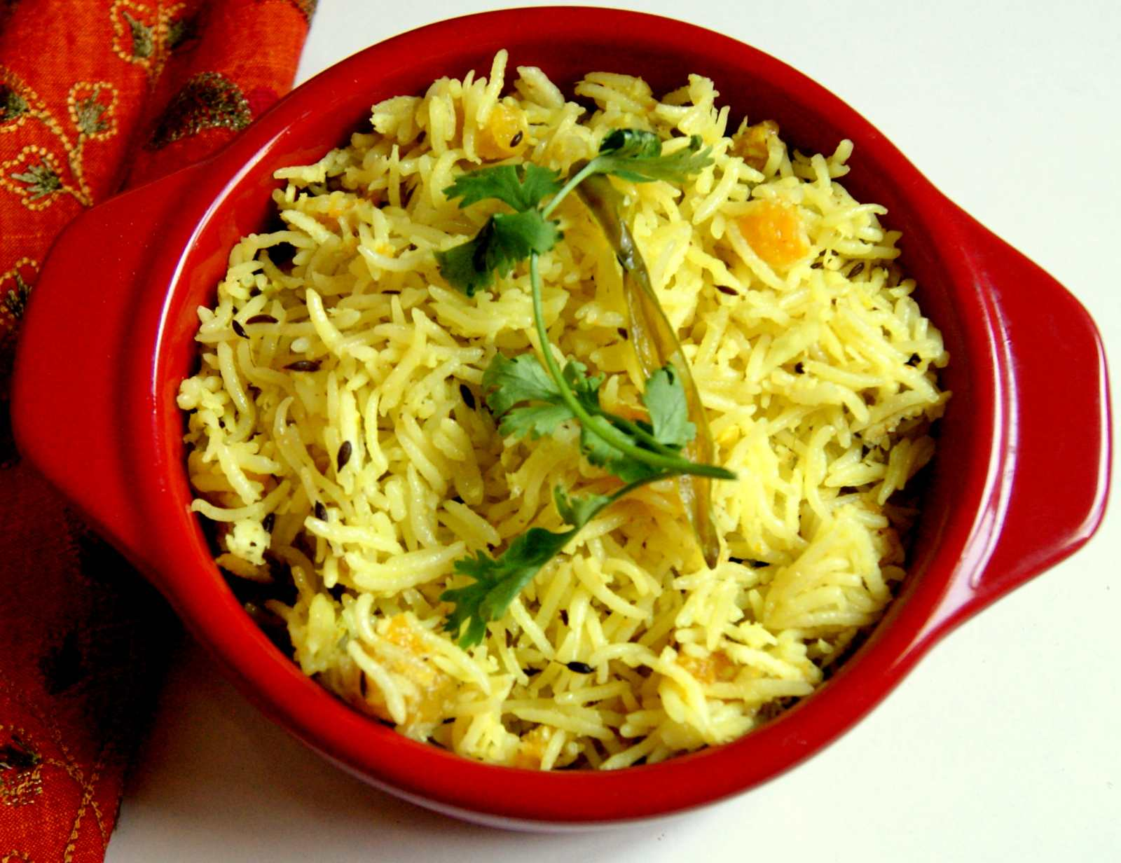 Yellow Pumpkin Pulao Recipe