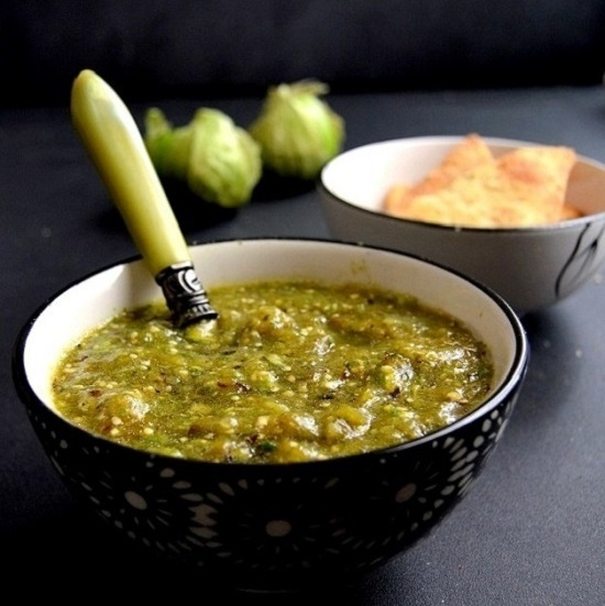 Spicy Mexican Salsa Verde Recipe - Green Tomato Salsa
