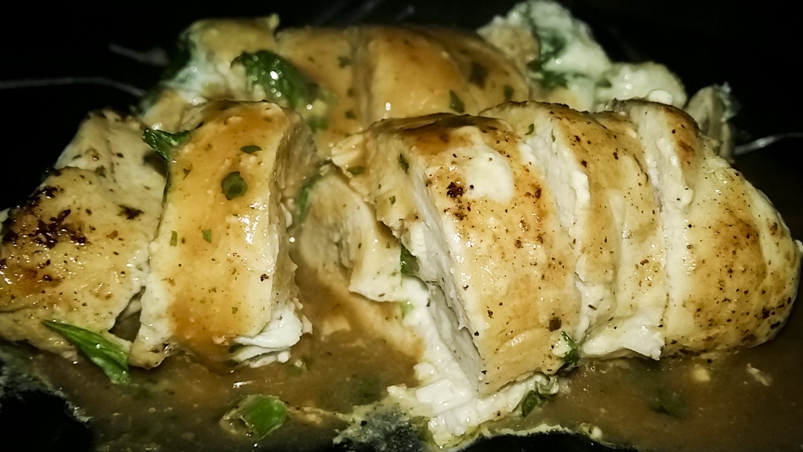 Creamy Stuffed Chicken With Pepper Cilantro Sauce Recipe