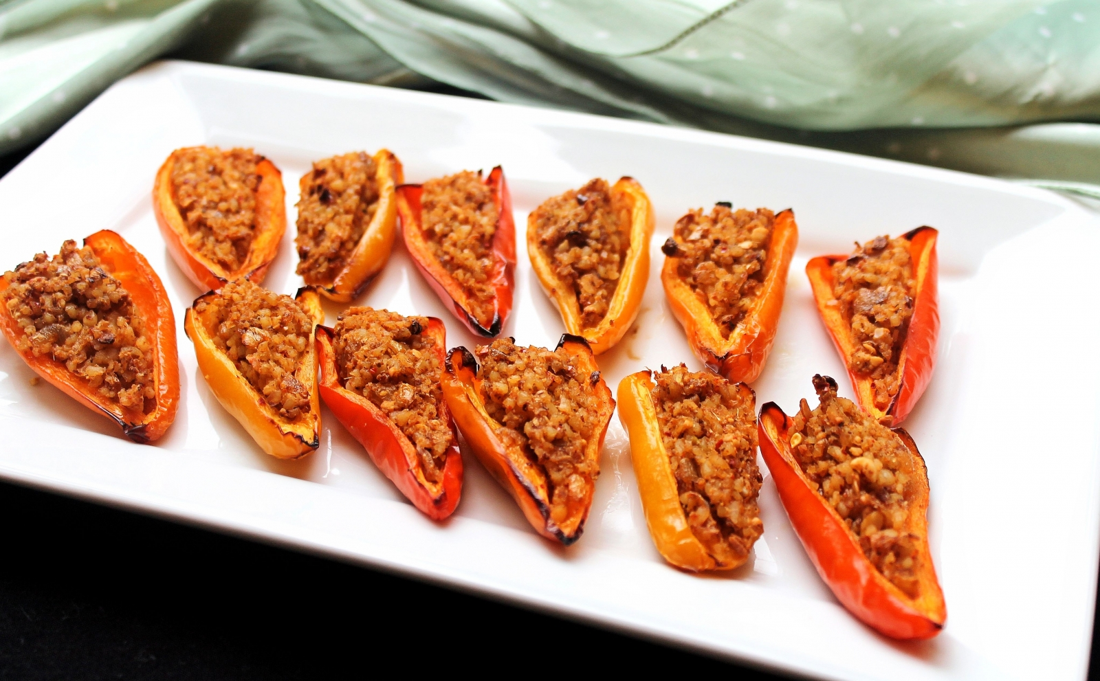 Bulgur Wheat Stuffed Mini Pepper Recipe