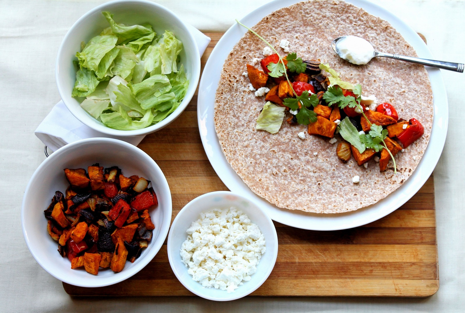 Curried Sweet Potato Mexican Fajita Recipe