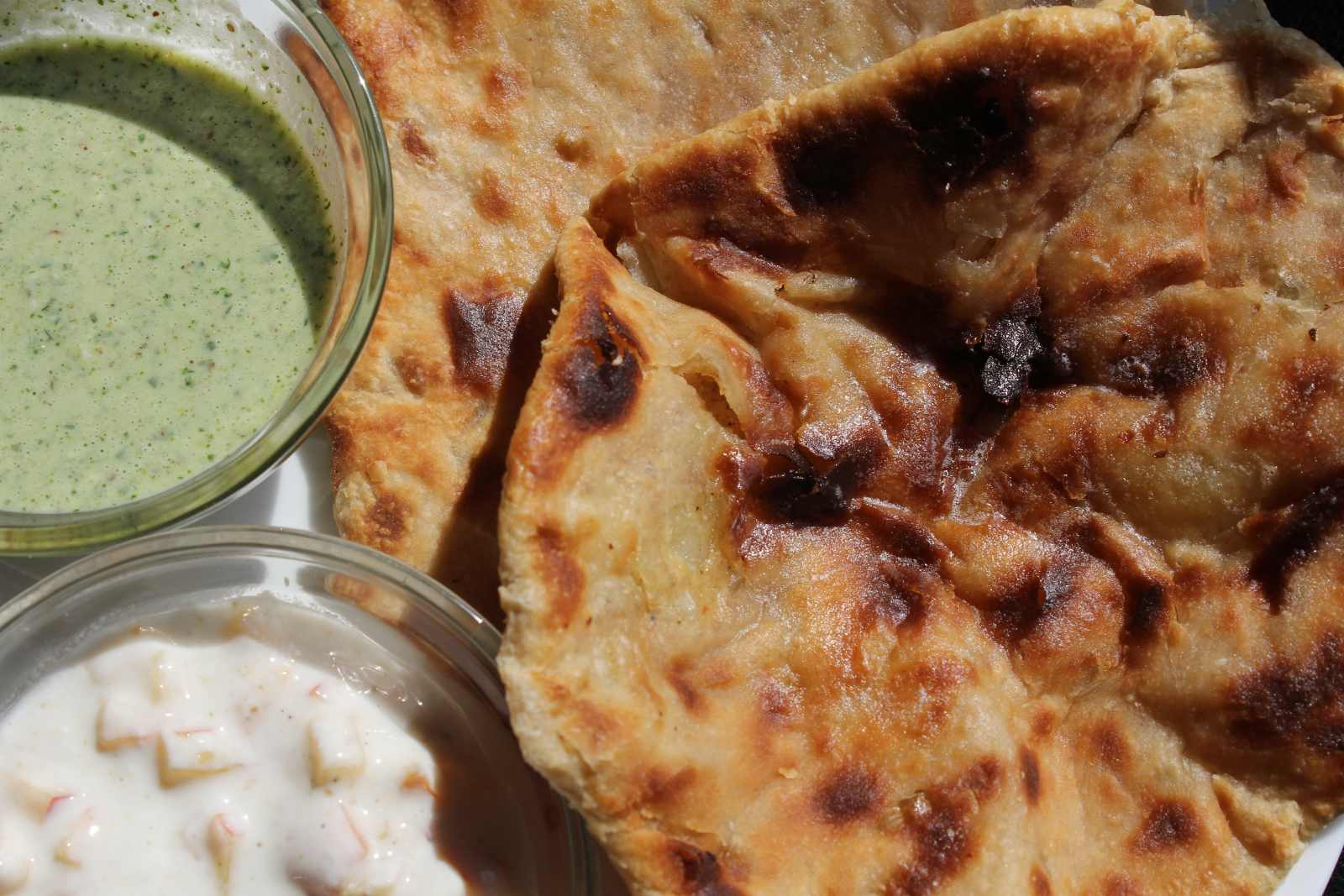Stuffed Masala Aloo Naan Recipe Made Without Oven