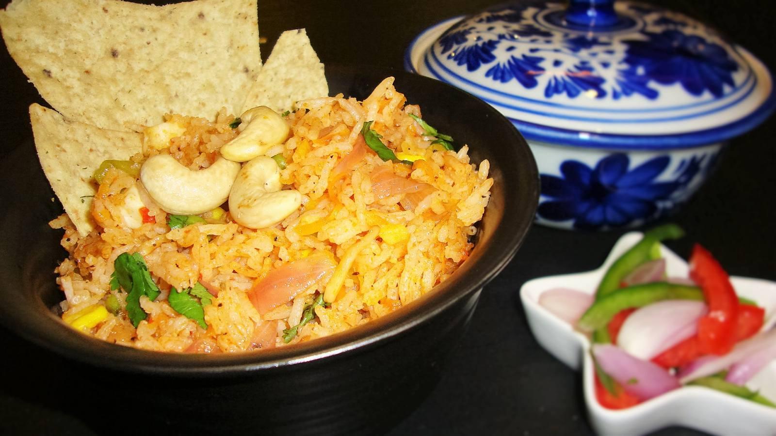 vegetarian nasi goreng recipe by archana s kitchen