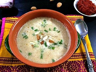 Moroccan Spiced Cauliflower And Almond Soup Recipe