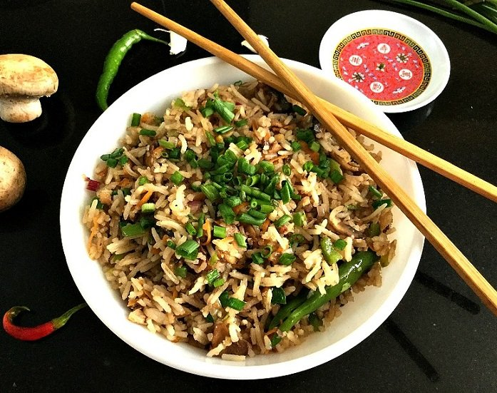 mushroom fried rice yummy tummy