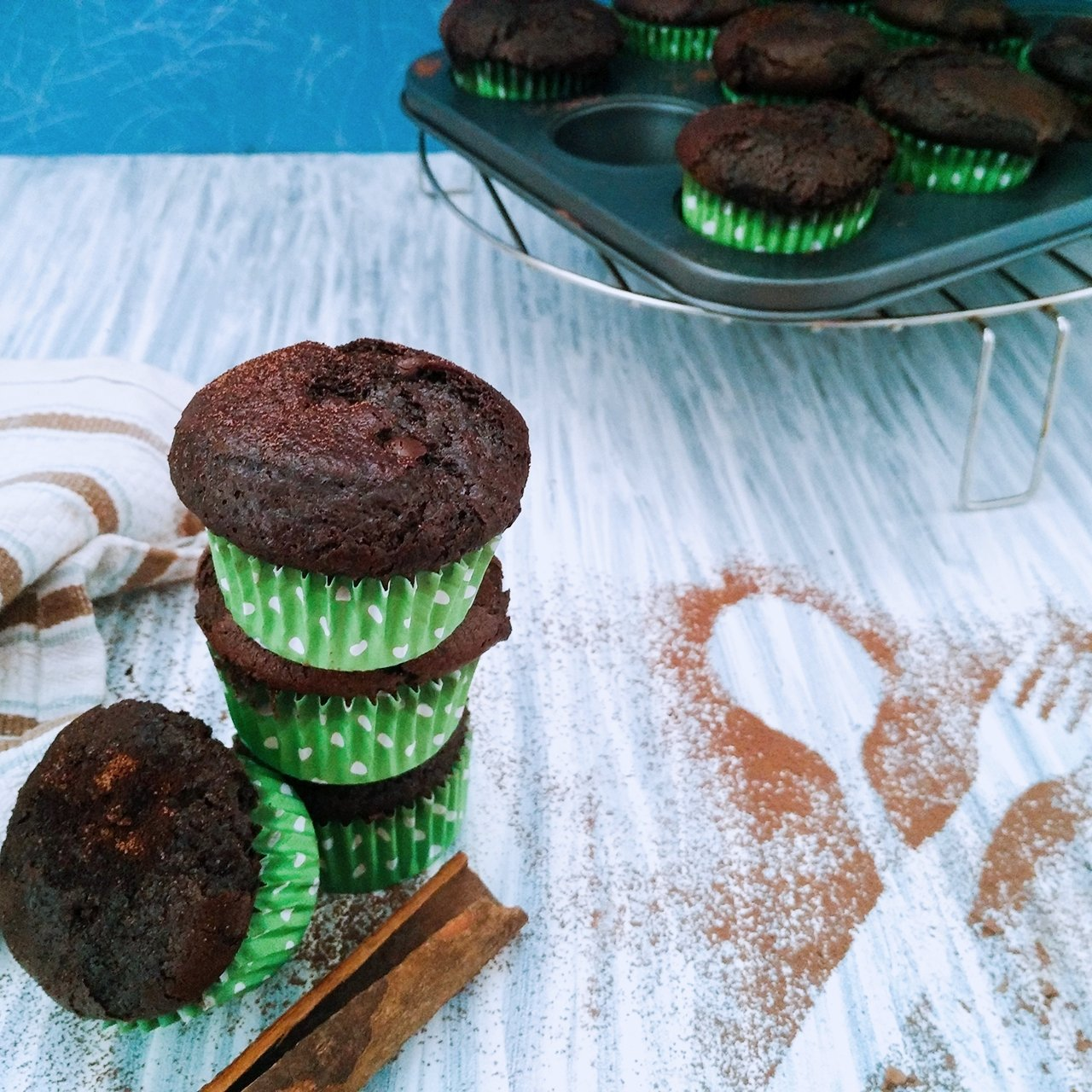 Whole Wheat Chocolate Cinnamon Cupcakes Recipe