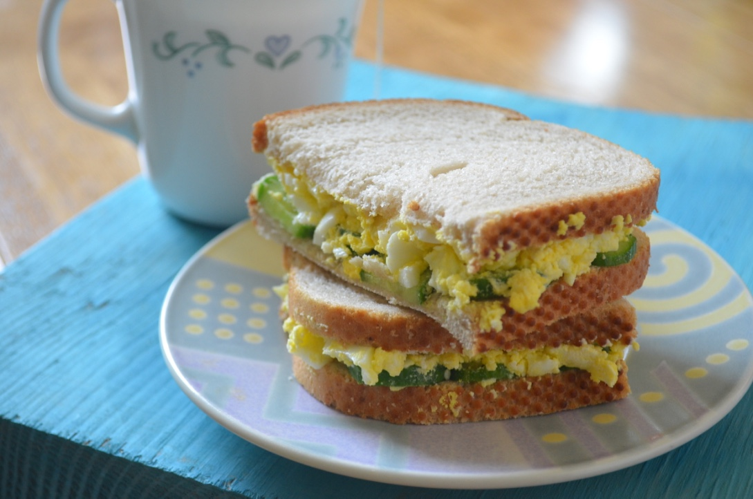 Rye Breakfast Sandwich With Cucumber And Eggs Recipe