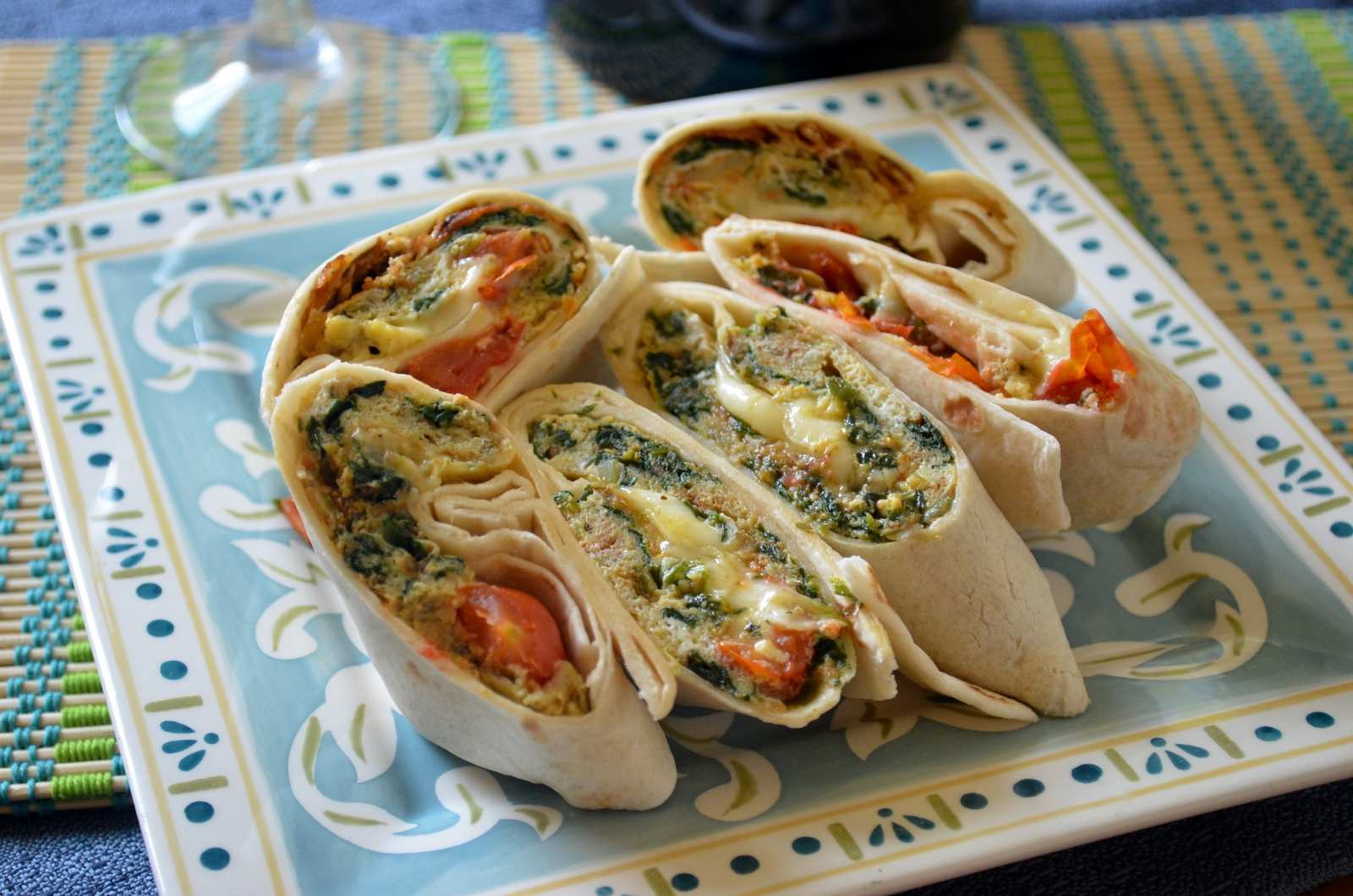 Savory egg wrap recipe with spinach cherry tomato and fresh savory egg wrap recipe with spinach cherry tomato and fresh mozzarella forumfinder Gallery