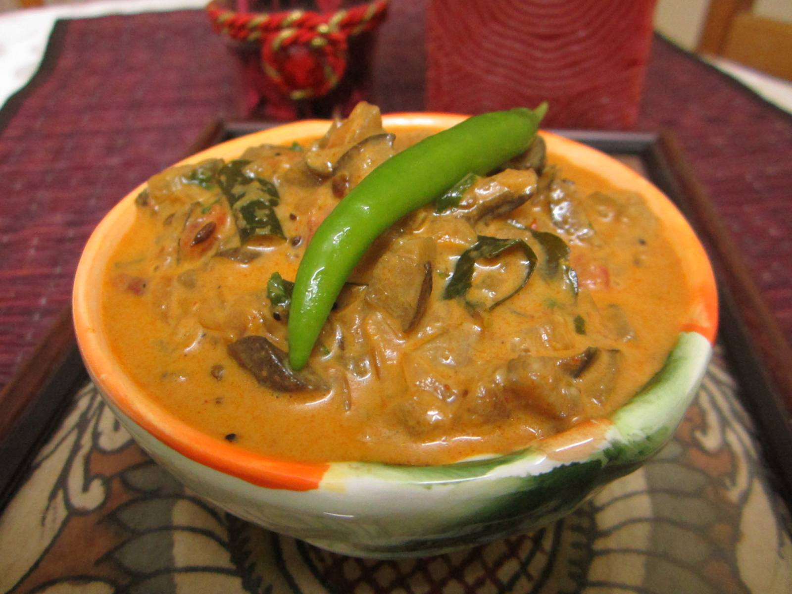 Kerala style eggplant curry recipe by archanas kitchen kerala style eggplant curry recipe forumfinder Images