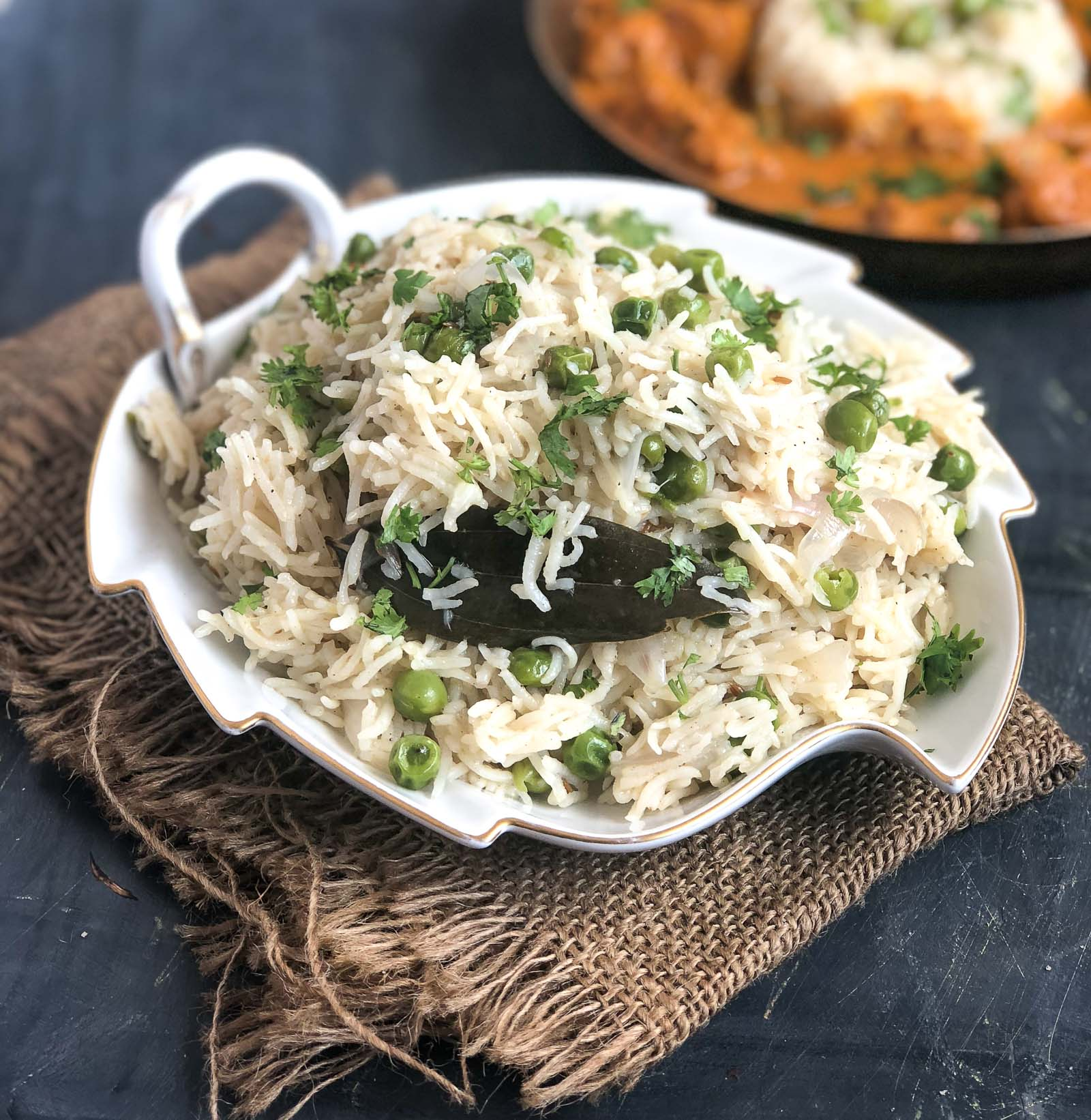 Peas Pulao Recipe -  North Indian Matar Pulao