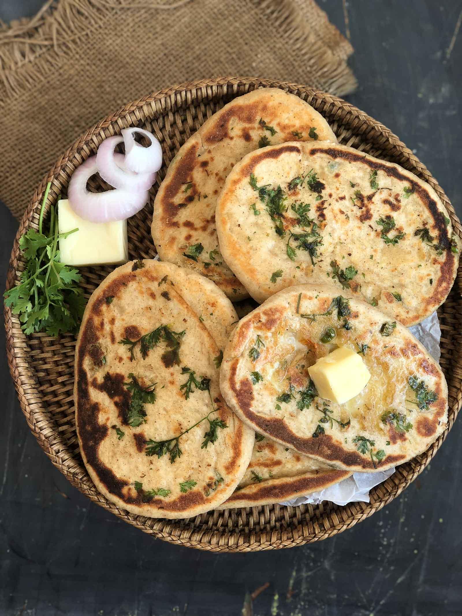 Chilli Cheese Stuffed Kulcha Recipe By Archana S Kitchen