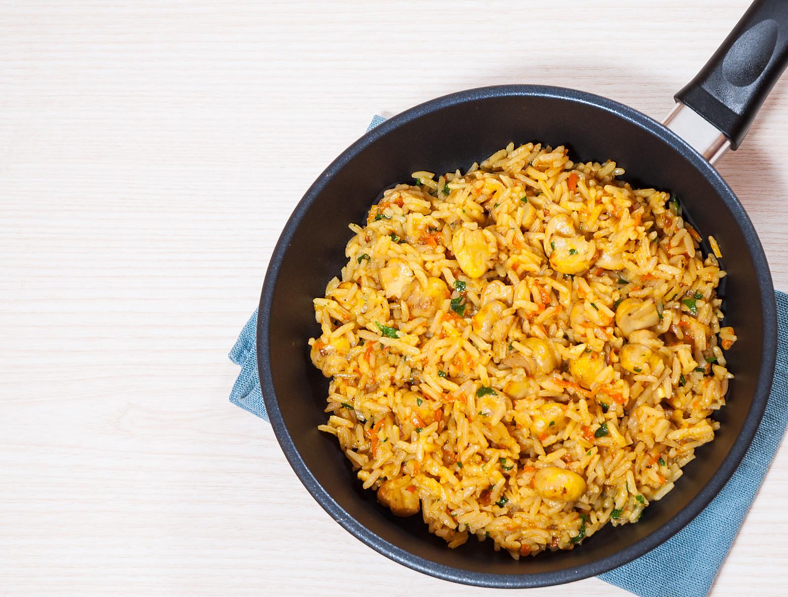 Mushroom pulao recipe mushroom rice recipe mushroom pulav recipe