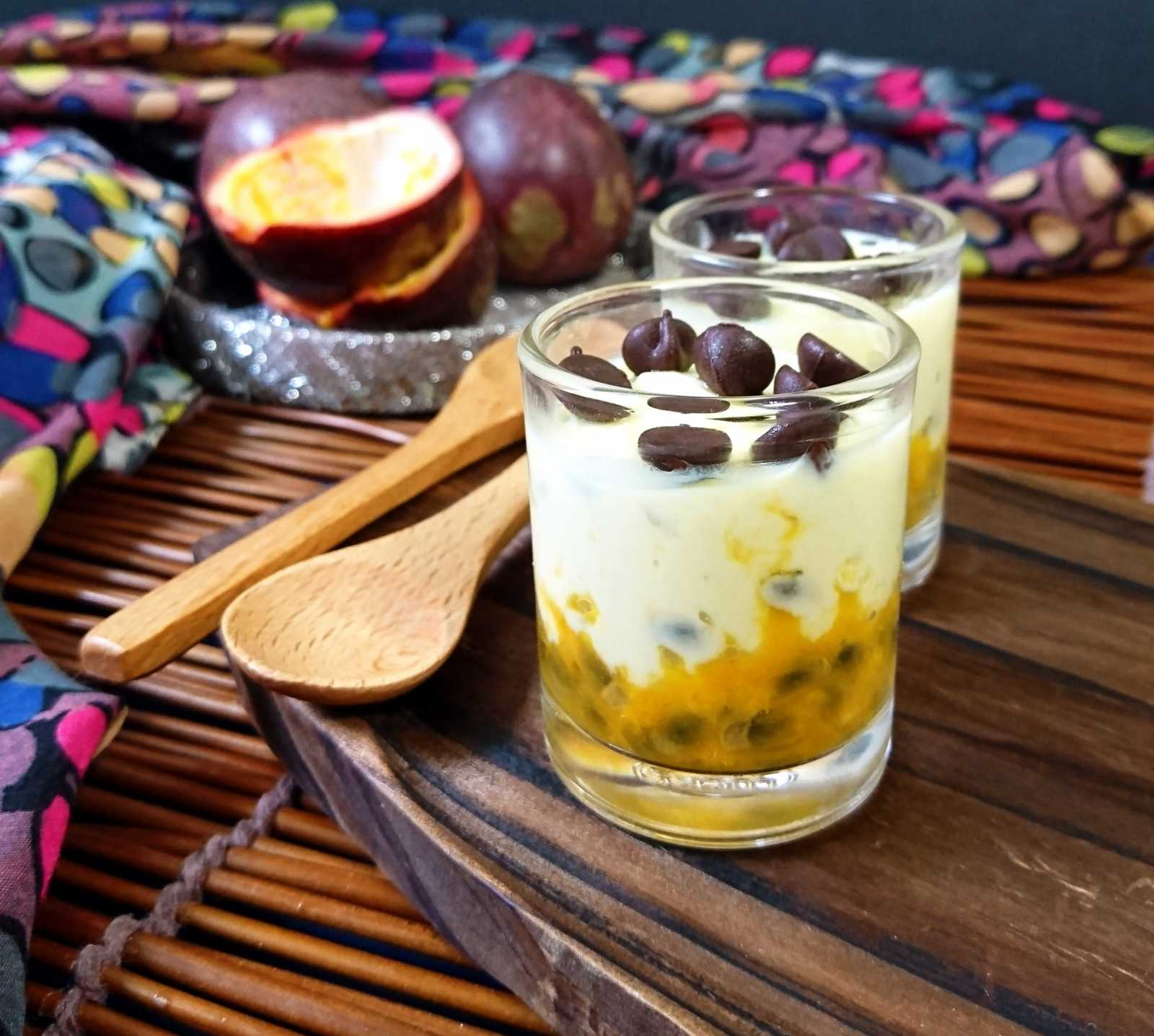 Passion Fruit- Shrikhand Shots Recipe
