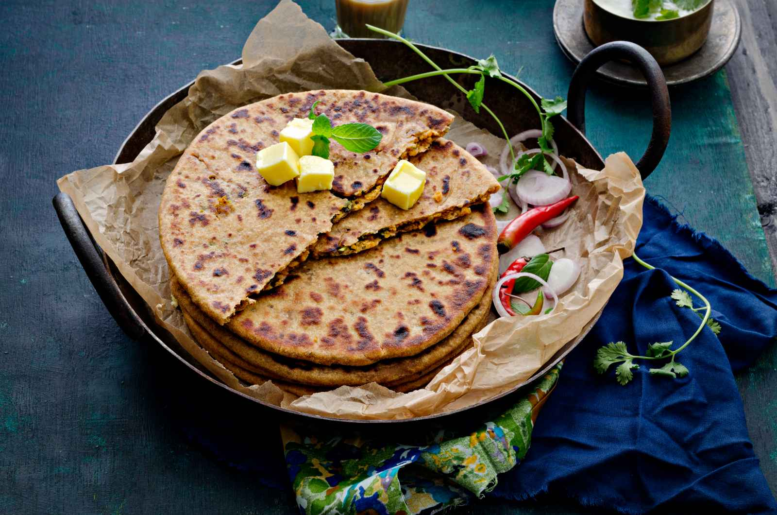 Whole Wheat Soya Keema Kulchas
