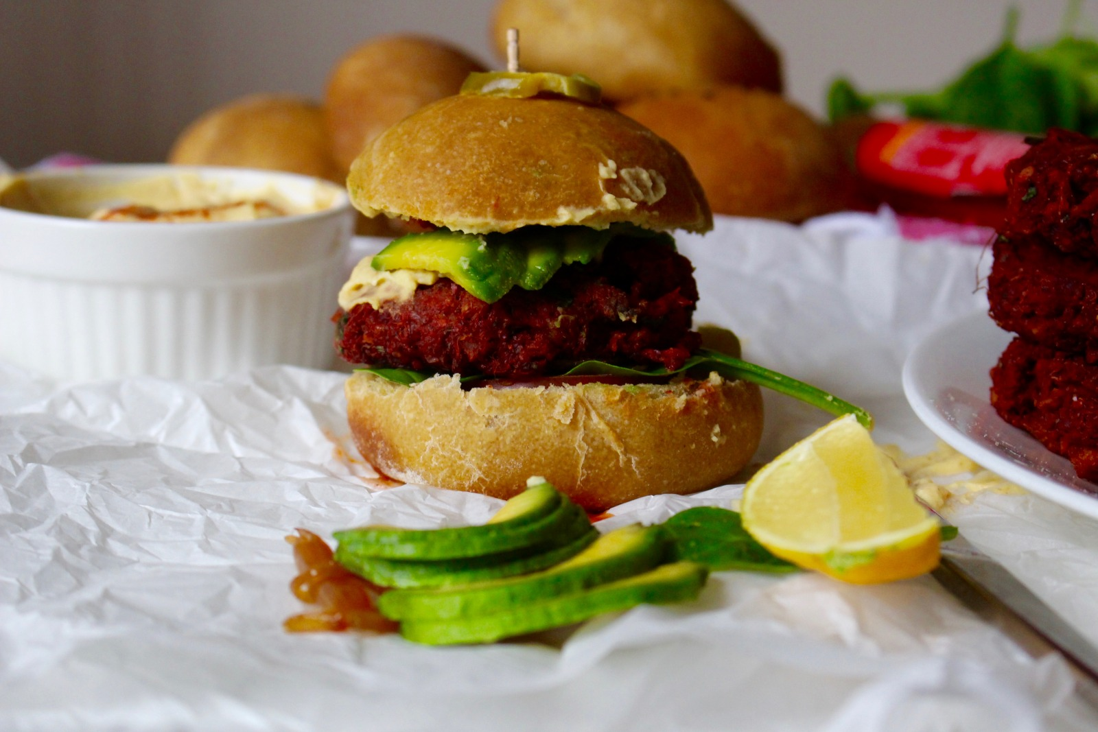 Beet Quinoa Sliders Recipe