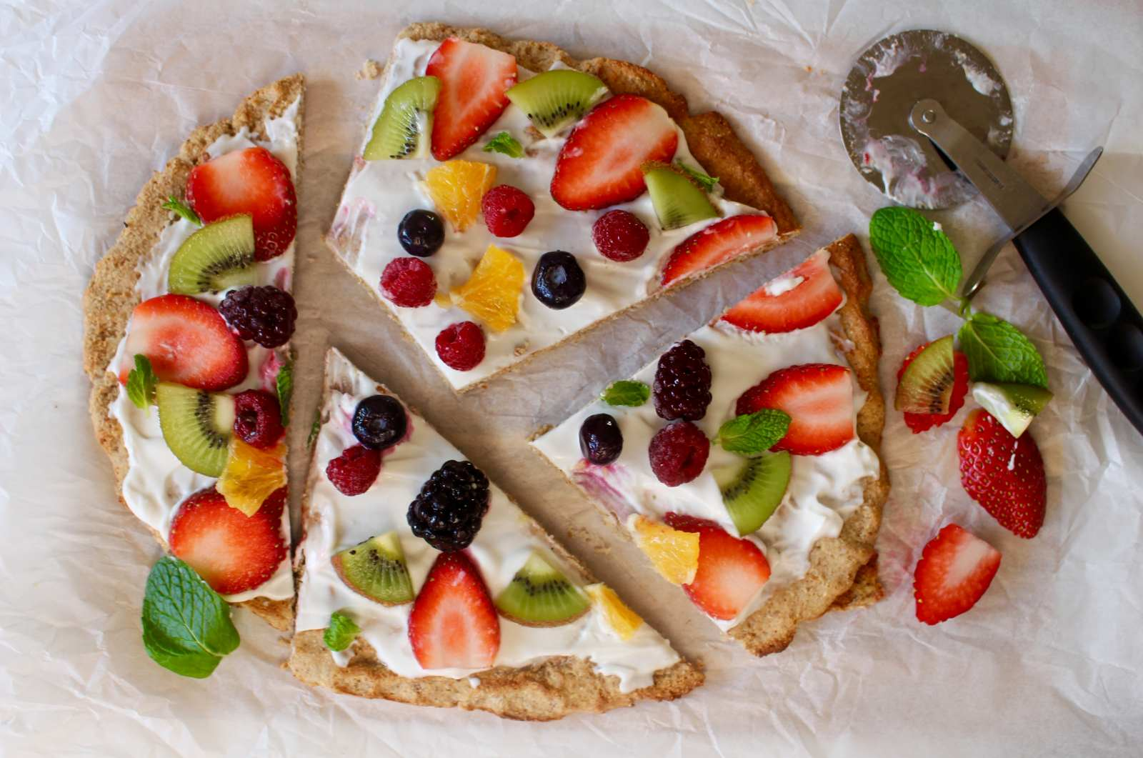 Healthy fruit pizza recipe for breakfast by archanas kitchen healthy fruit pizza recipe for breakfast forumfinder Gallery