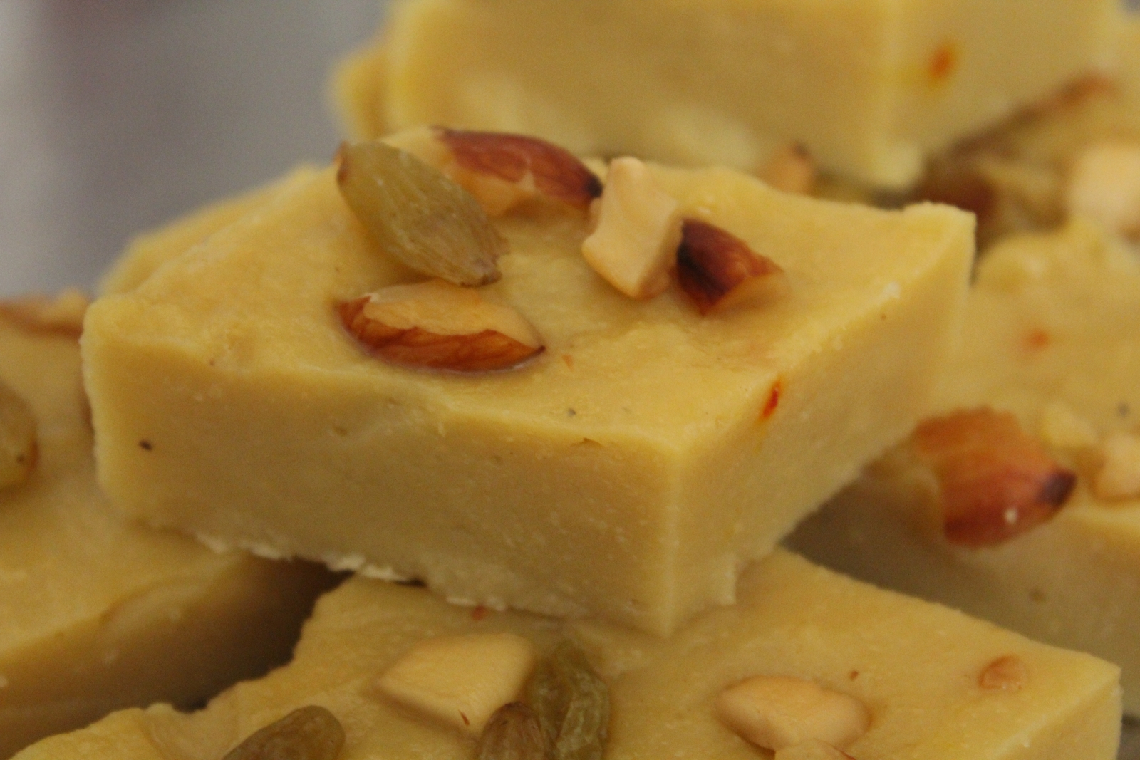 Moong Dal Halwa Burfi Recipe