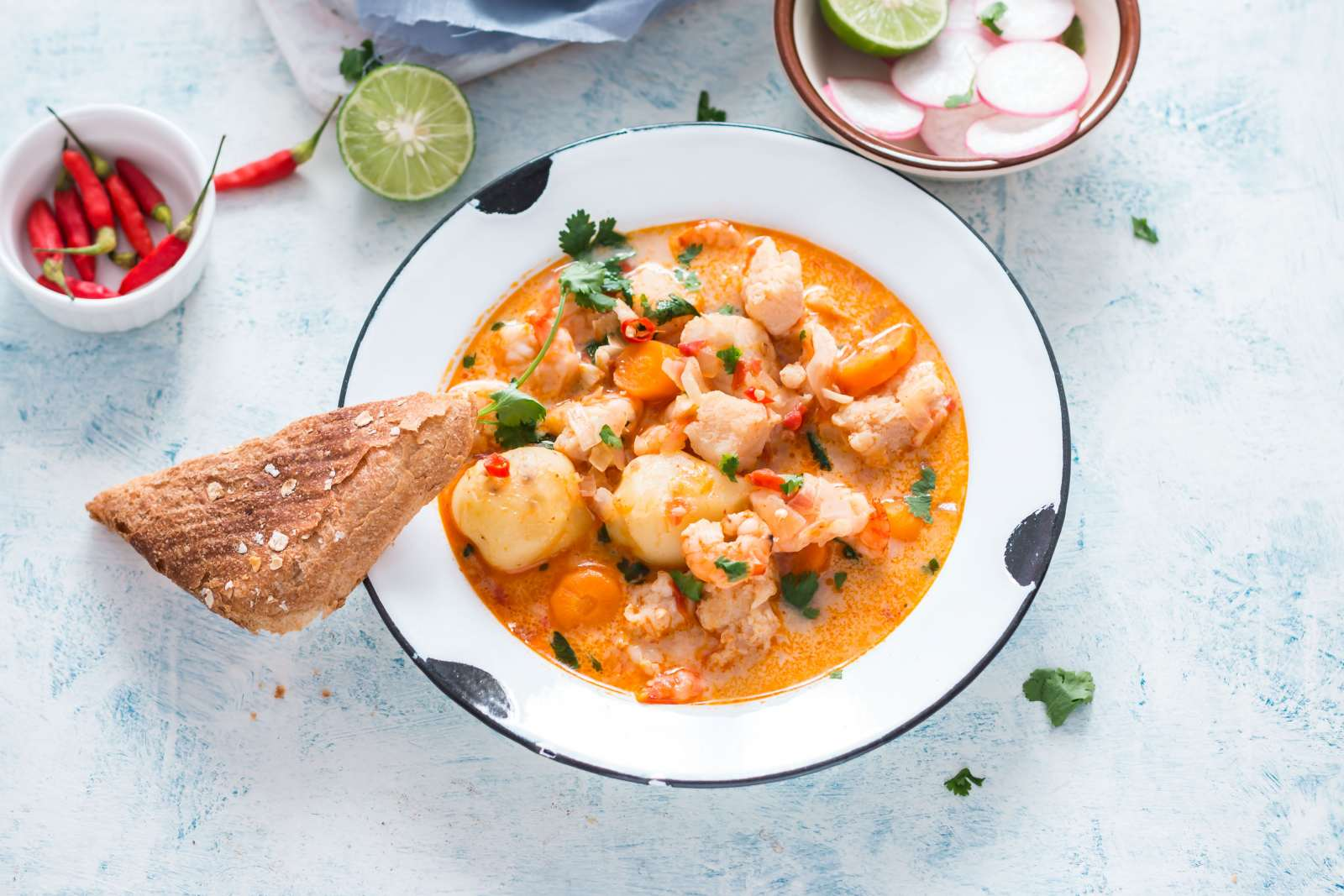 Spicy Seafood Stew Casserole With Tomatoes And Lime Recipe
