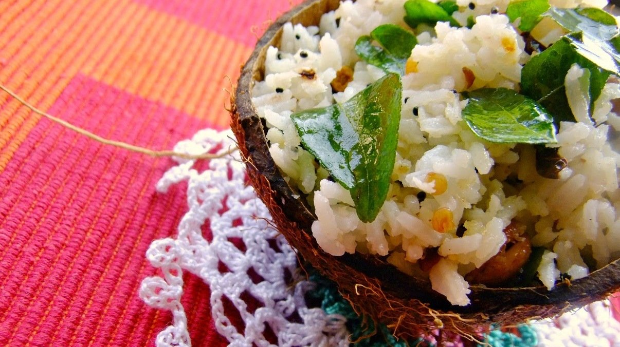 Thengai Saadam (Spiced Coconut Rice) Recipe