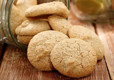 Eggless Wholewheat And Custard Powder Coconut Cookies Recipe