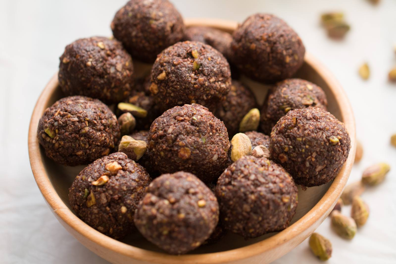 Chocolate Coconut Pistachio Bites Recipe (Paleo & Vegan)