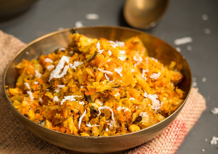 Cabbage And Carrot Thoran Recipe