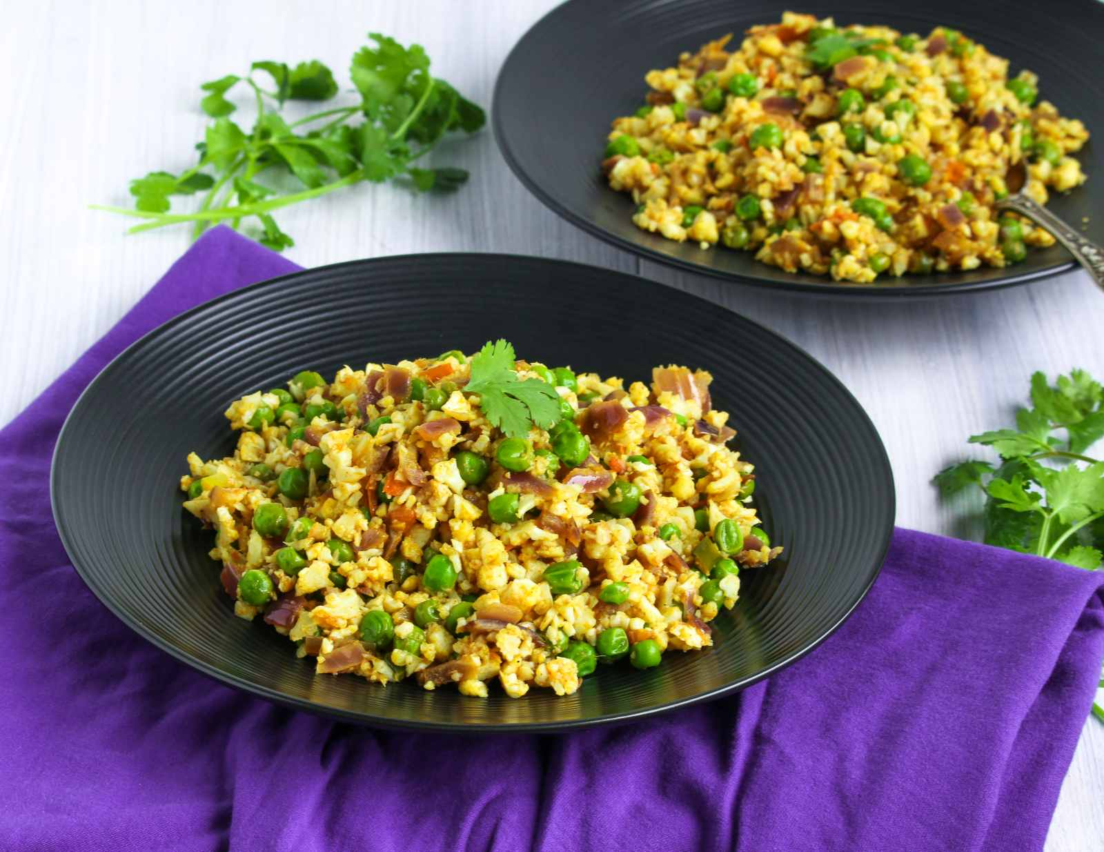 Cauliflower Matar Bhurji Recipe