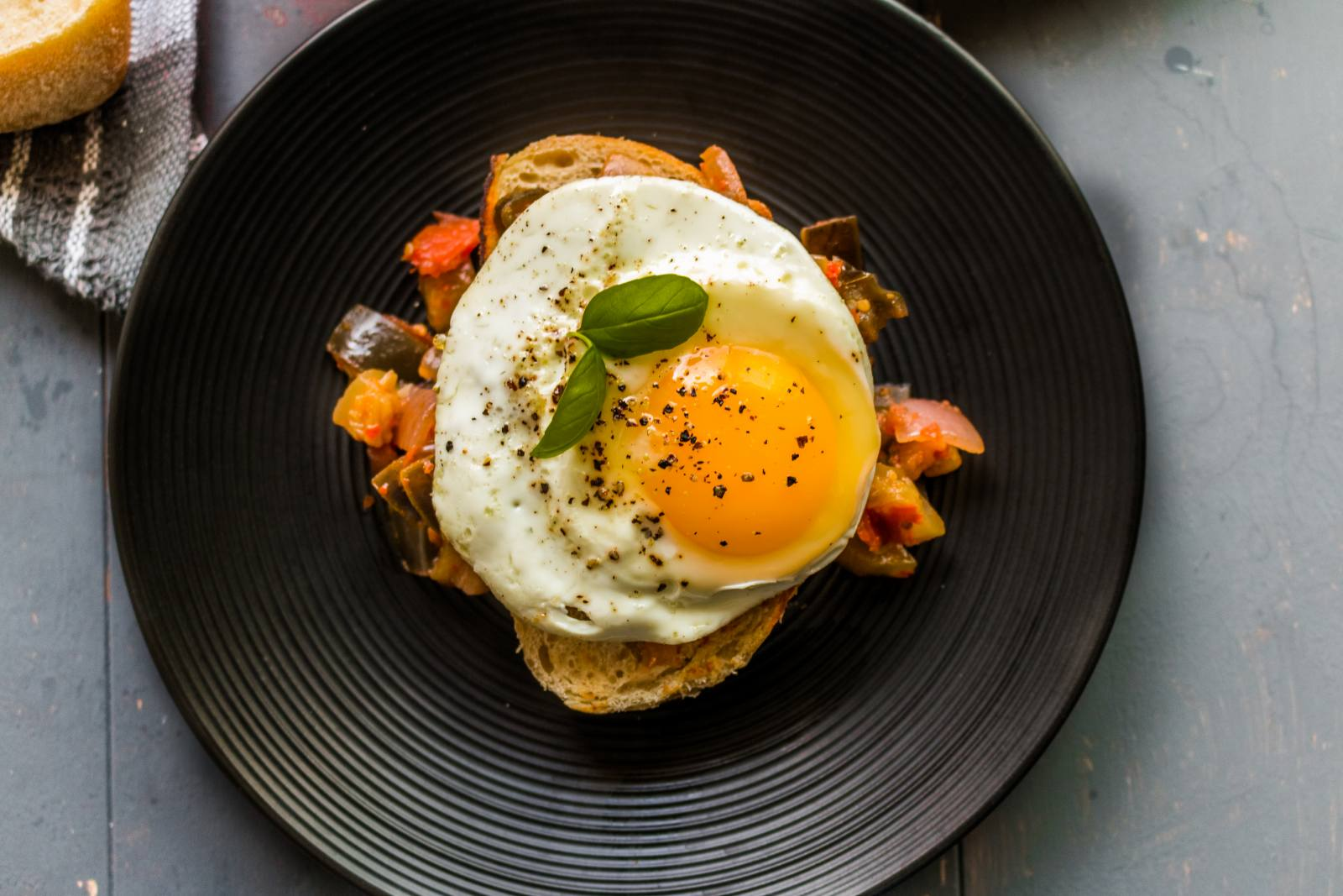 Ratatouille With Fried Eggs Recipe