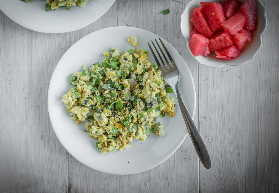 Spicy Jalapeno Scrambled Eggs Recipe