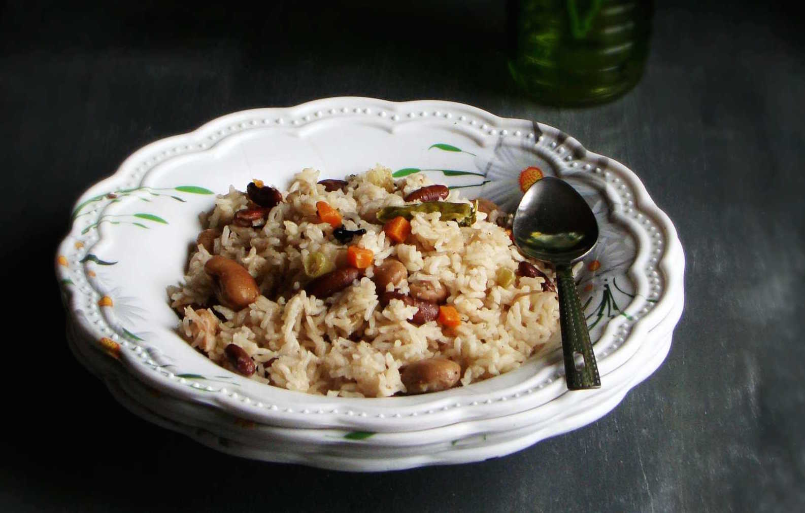 Mixed Beans Vegetable Pulao Recipe