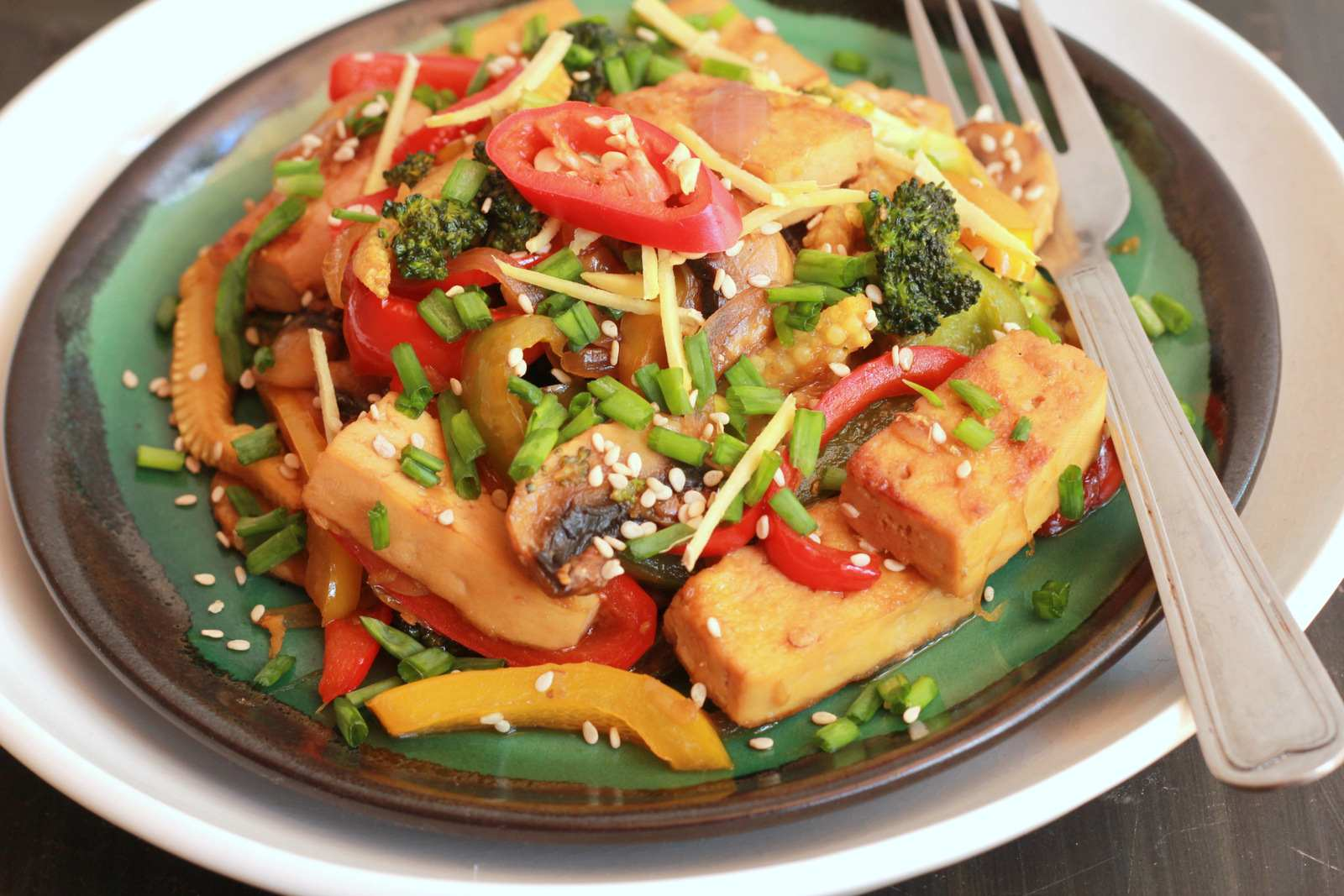 Chilli Ginger Vegetable Tofu Stir Fry Recipe By Archana S Kitchen