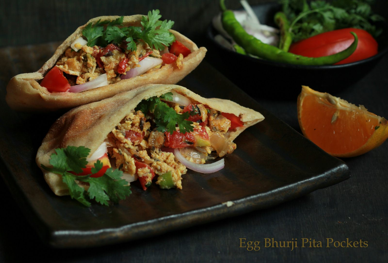 Egg Bhurji Stuffed Pita Pockets Recipe By Archana S Kitchen