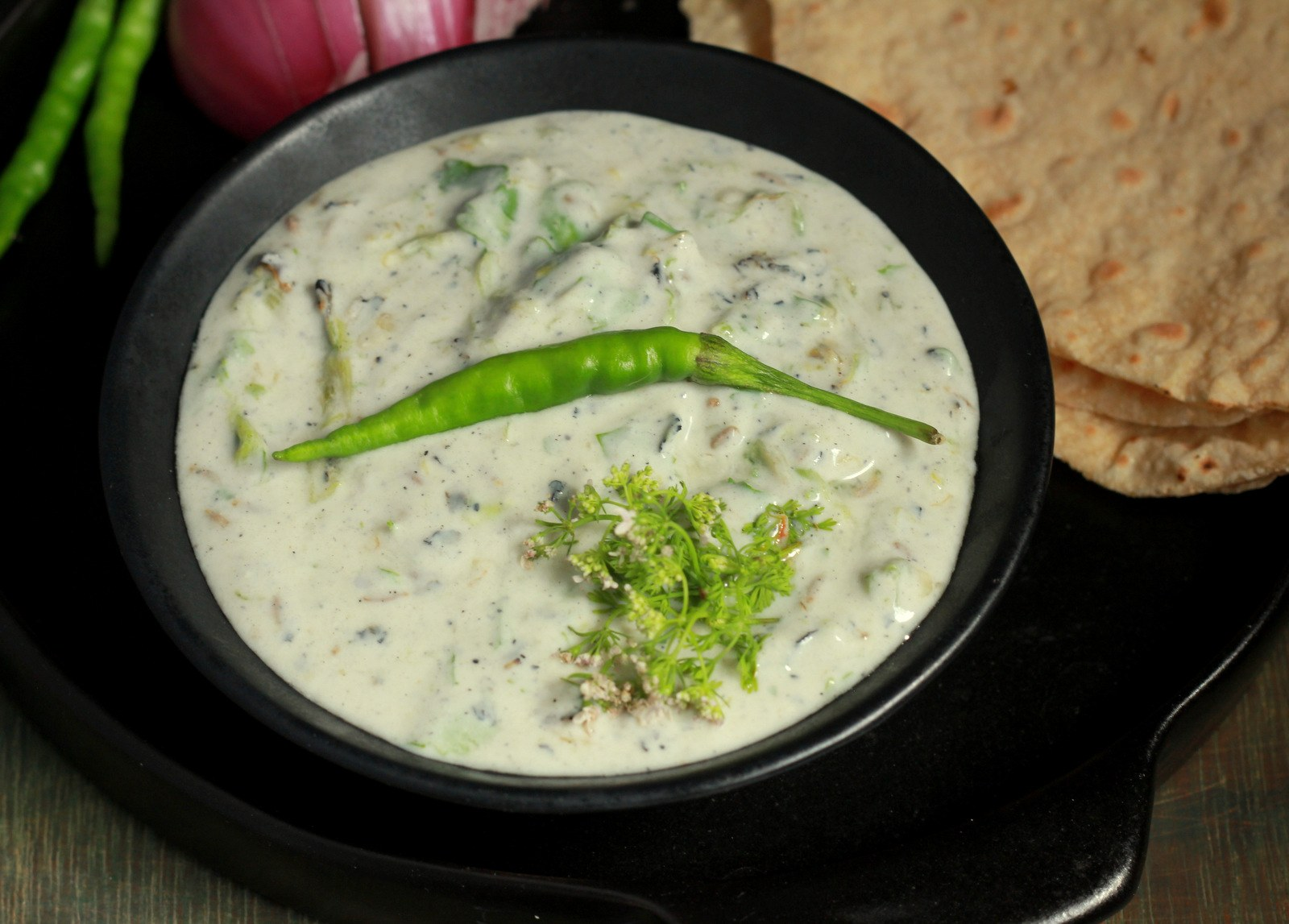 Mirchicha Chatka (Fire Roasted Chillies With Yogurt Recipe)