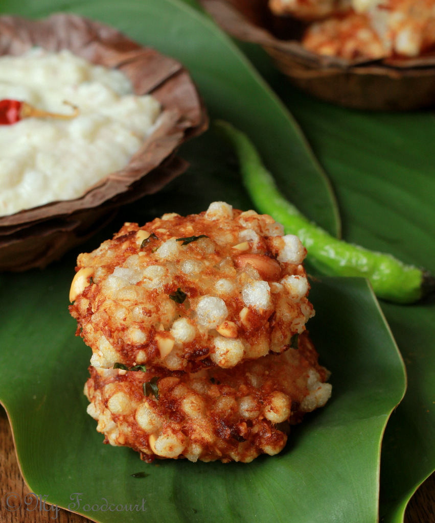 Sabudana Vada Recipe - Deep Fried Sago Patties/Cutlets