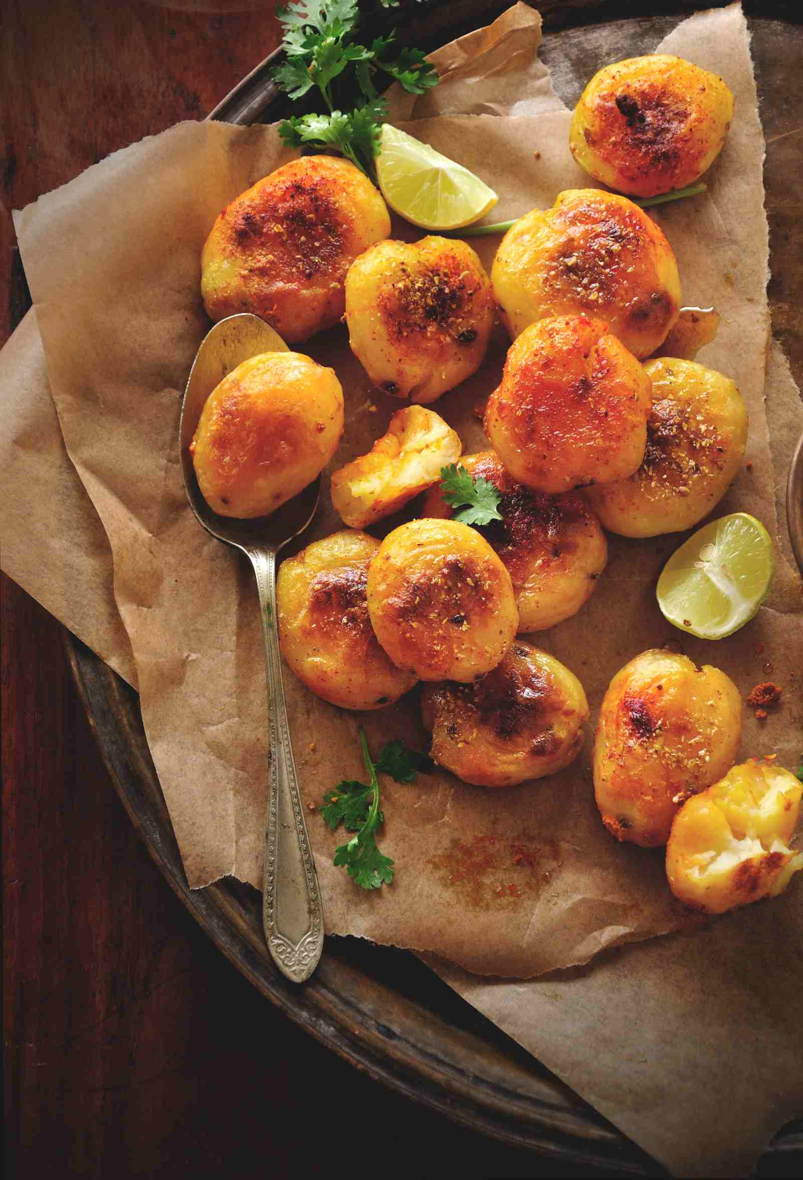Aloo Took Recipe - Sindhi Style Double Baked Crispy Potatoes
