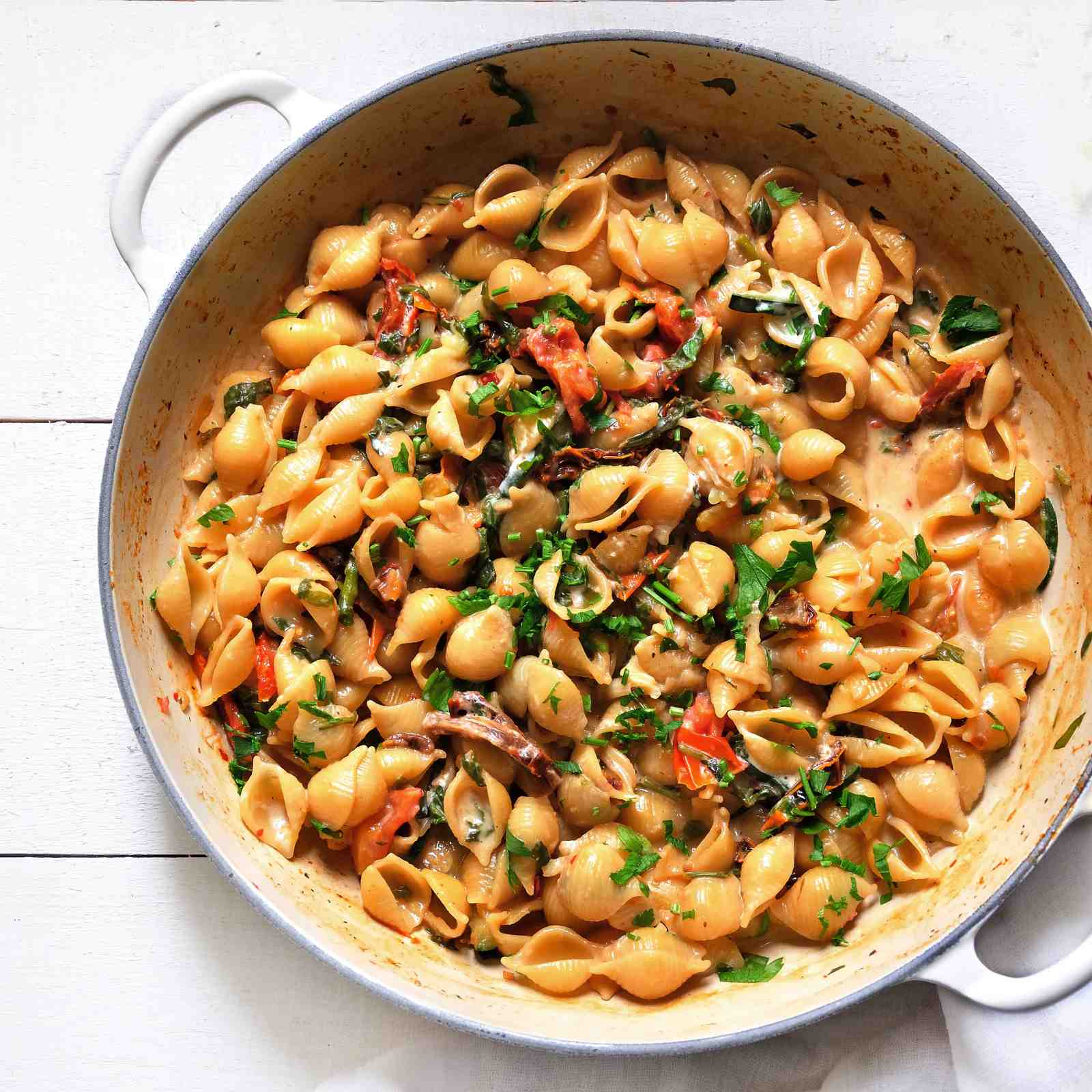 Spinach Sun Dried Tomato Pasta Recipe