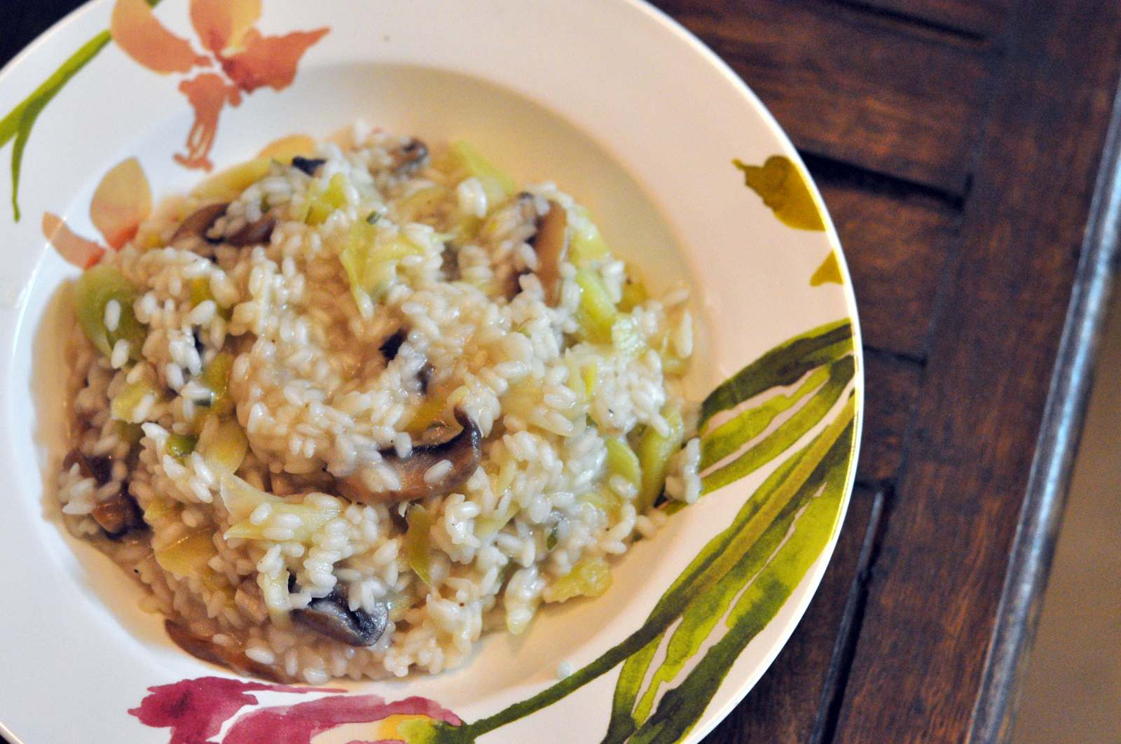 Leek Mushroom & Lemon Risotto Recipe