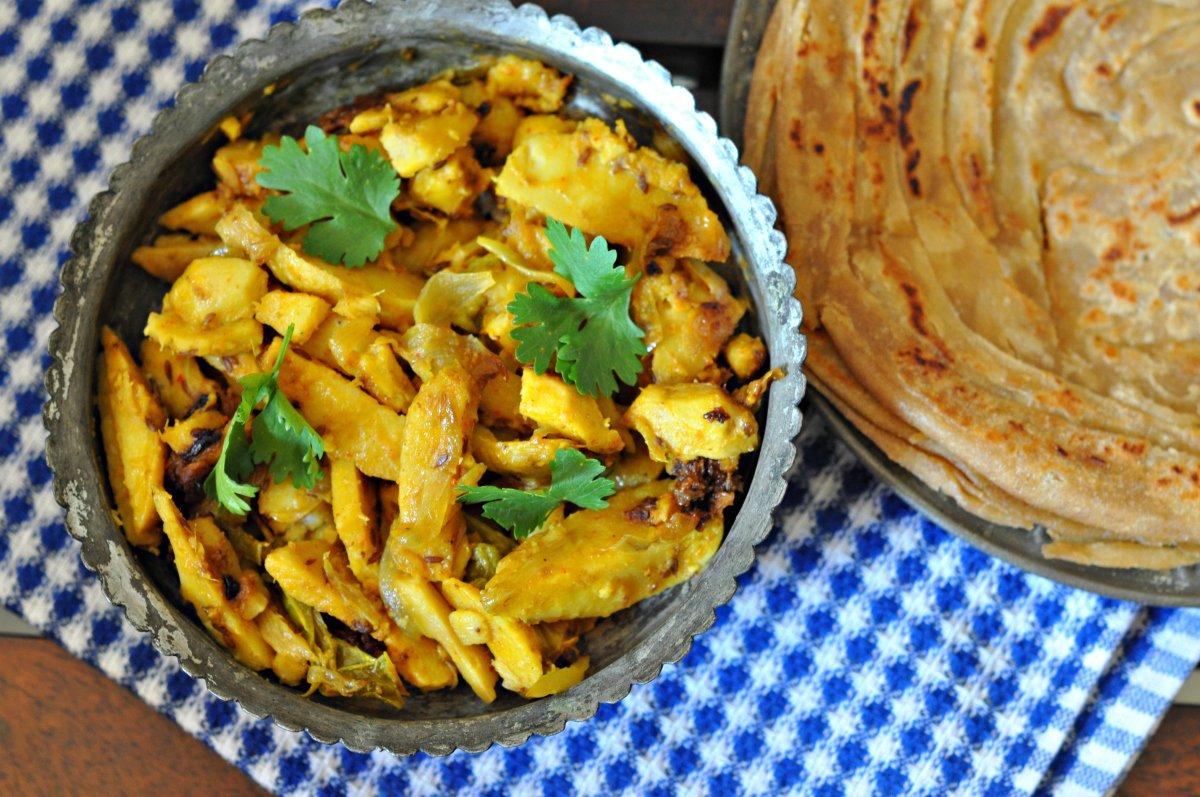Punjabi style spicy arbi sabji recipe by archanas kitchen punjabi style spicy arbi sabji recipe forumfinder Images