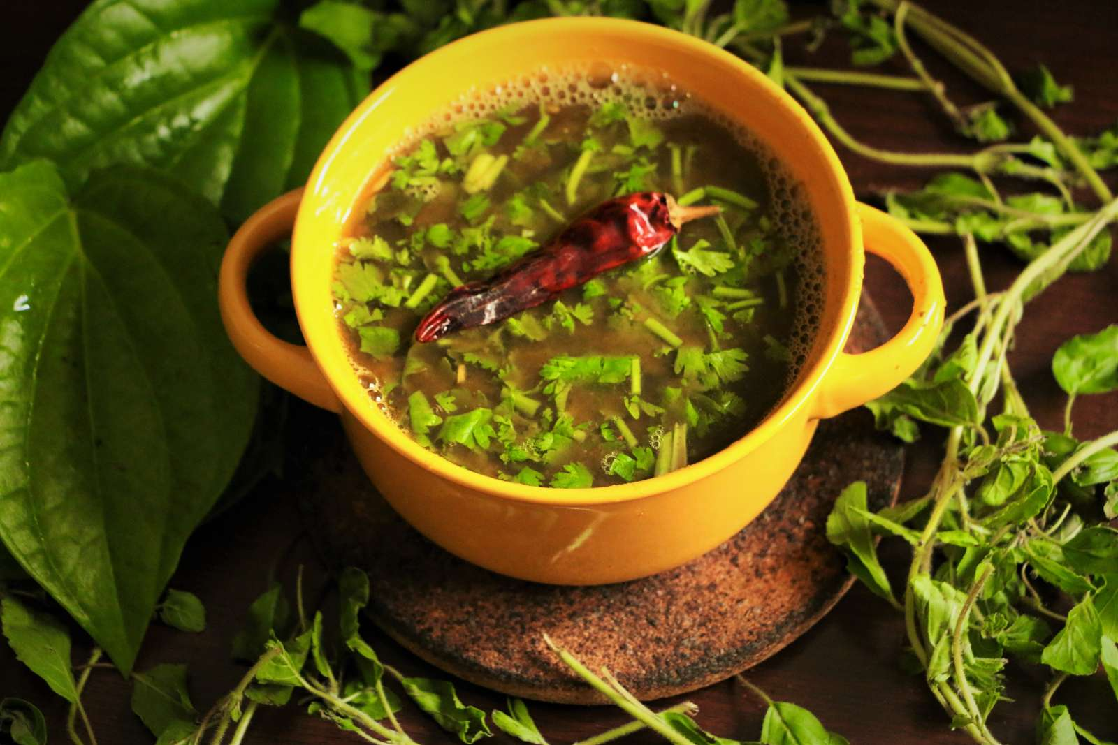 Tulsi And Betel Leaves Rasam Recipe