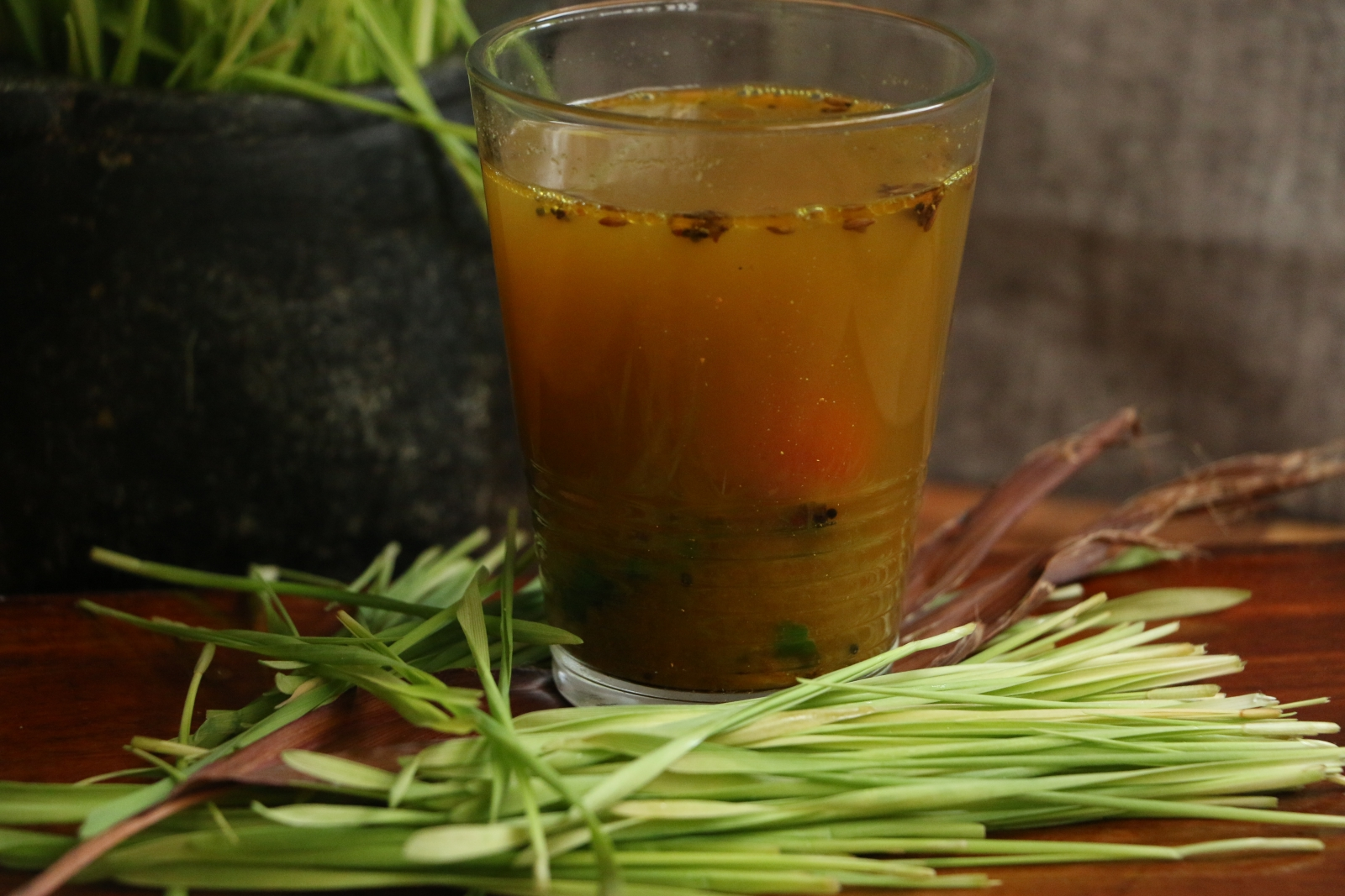 Wheat Grass Rasam Recipe