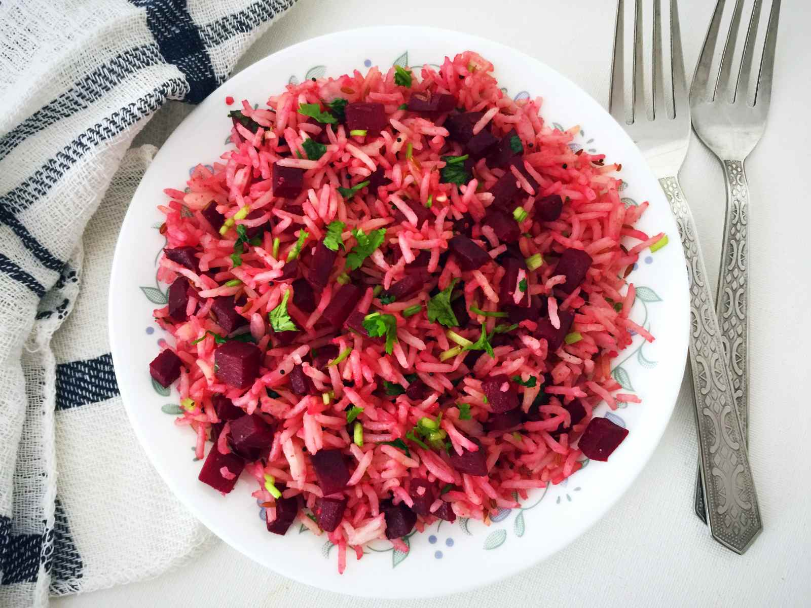 Quick Beetroot Pulao Recipe