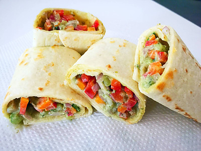 Crunchy Vegetables Tortilla Wrap Recipe By Archana S Kitchen