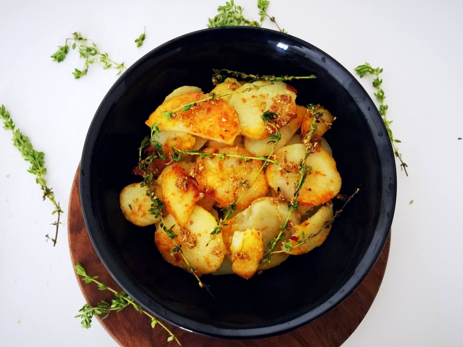 Roasted Coriander Potatoes With Thyme Recipe