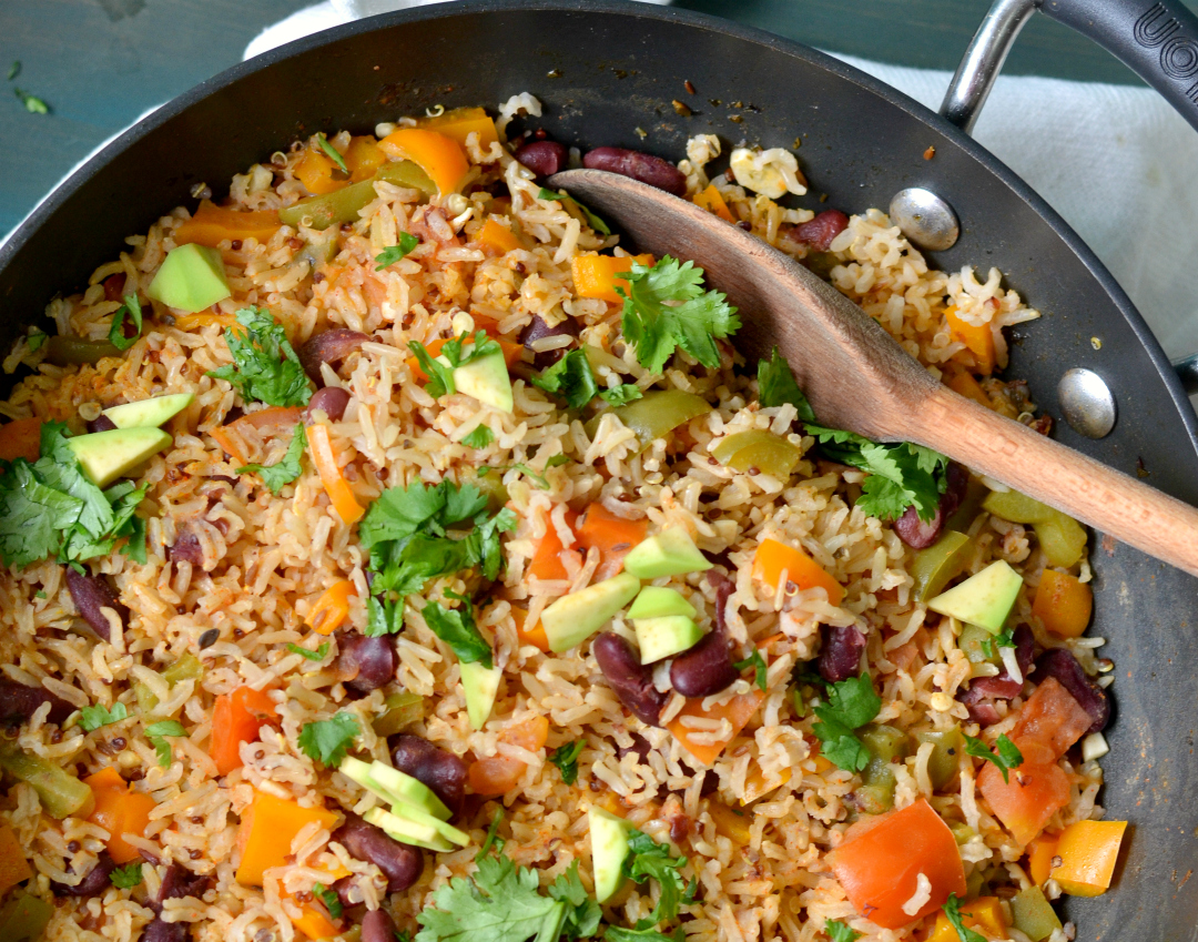 Mexican Brown Rice and Quinoa Casserole Recipe