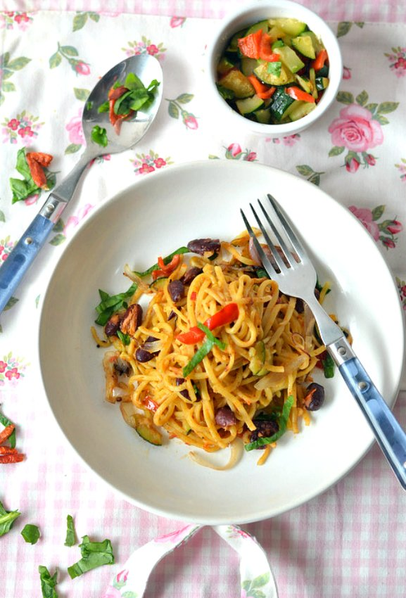 Quick Vegetable Noodles Recipe