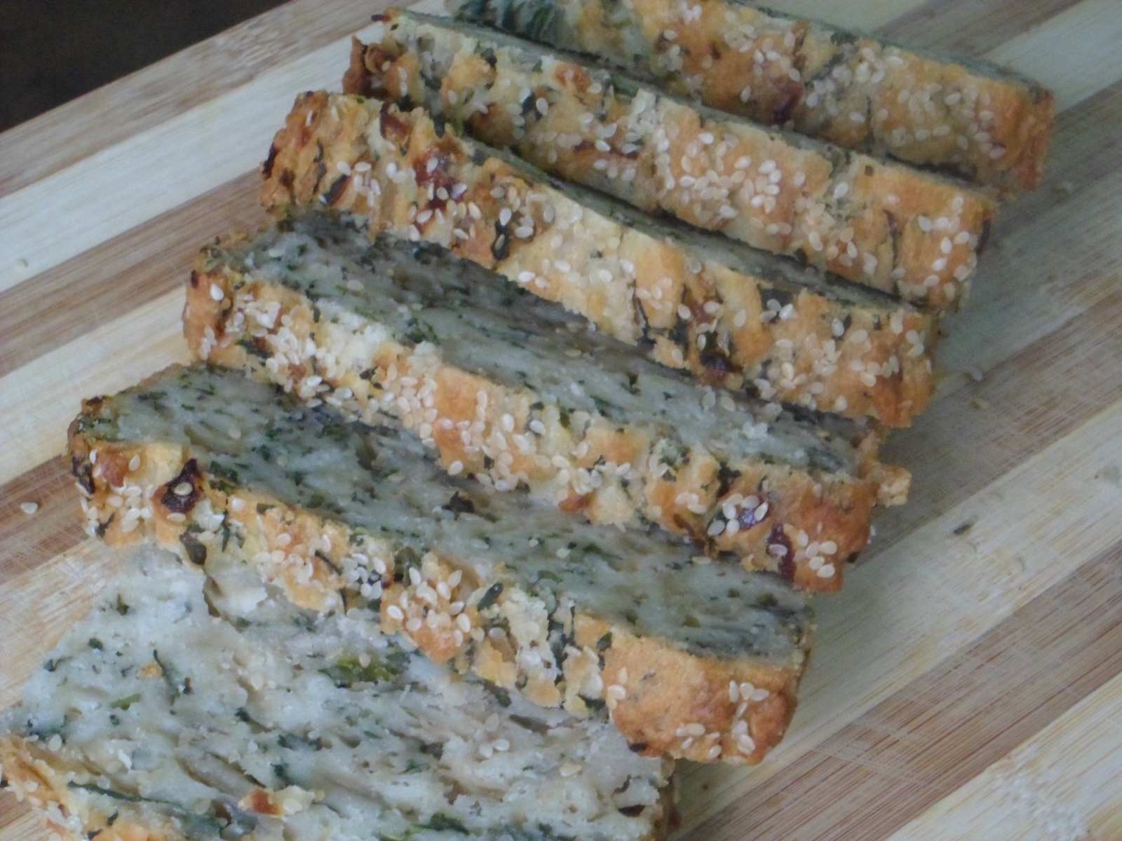 Eggless Spicy Spinach Bread Recipe