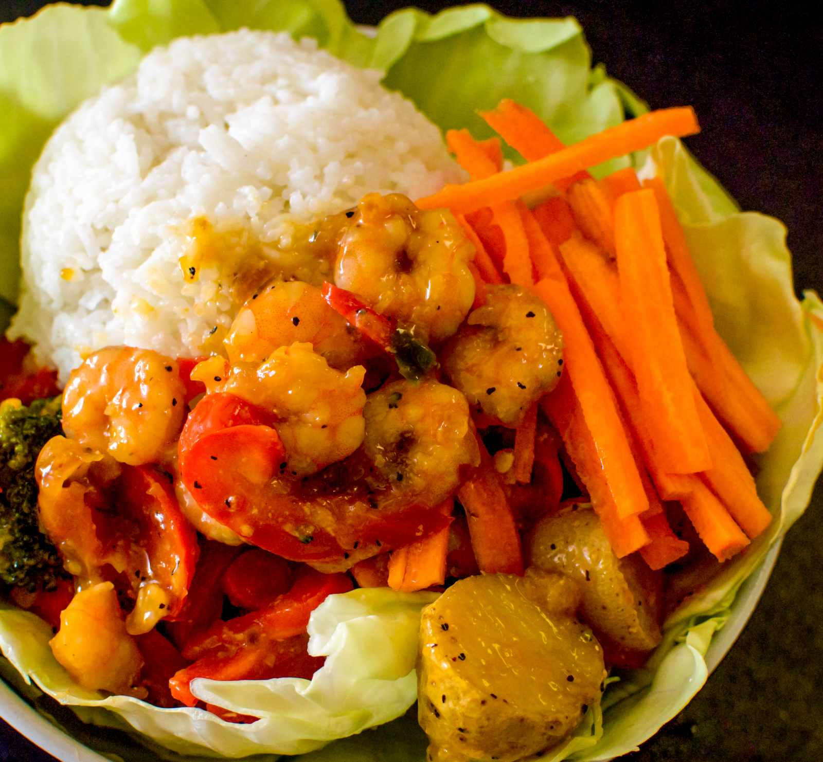 Asian Shrimp And Veggie Bowl Recipe